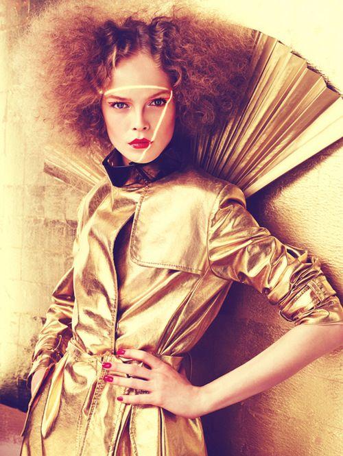 Siri Tollerød by Michelangelo di Battista for Vogue Italia Beauty November 2008.