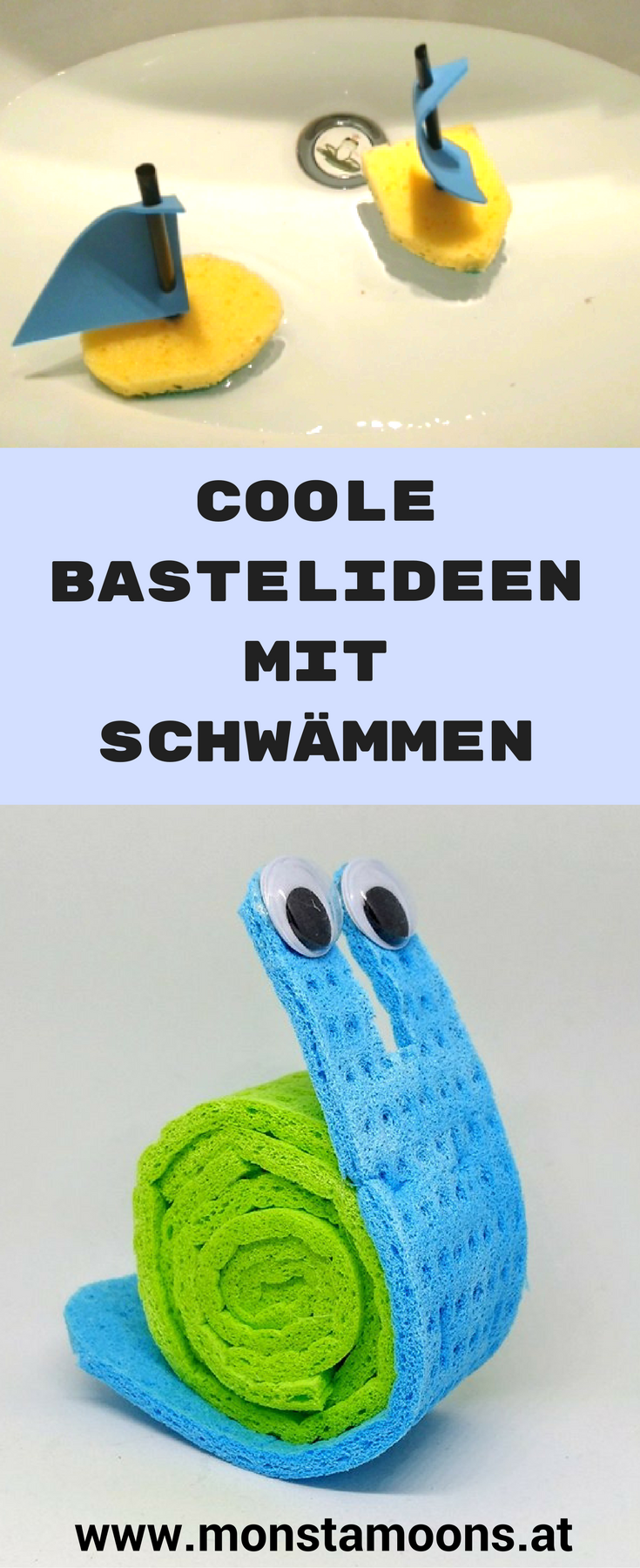 Basteln Sommer Coole Bastelideen Mit Schwämmen Stuff Crafts For Kids Diy For