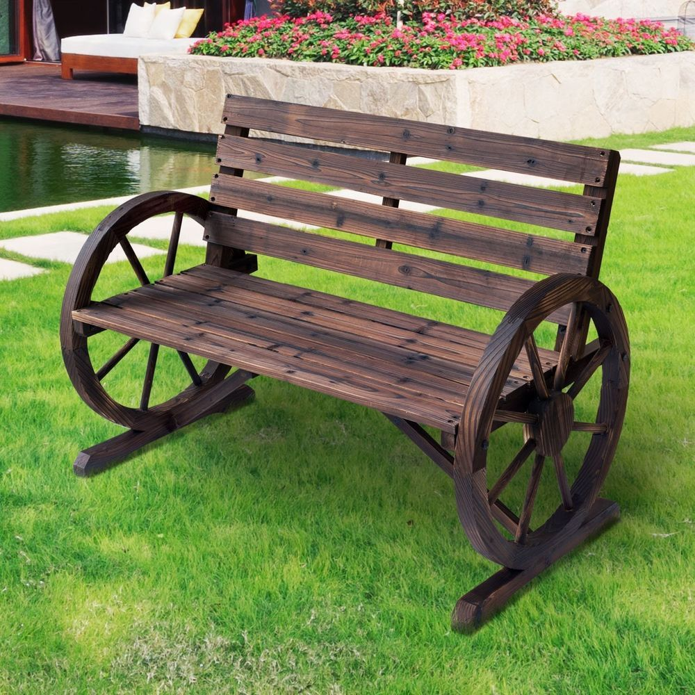 Pleasing 2 Seater Garden Bench Wooden Garden Chair Rustic Furniture Gmtry Best Dining Table And Chair Ideas Images Gmtryco