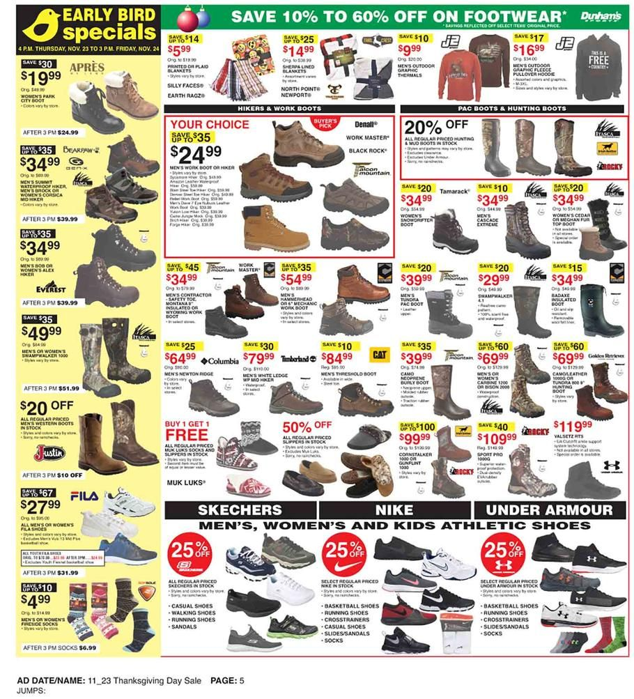 Dunham's Sports Black Friday 2017 Ad Scan, Deals and Sales