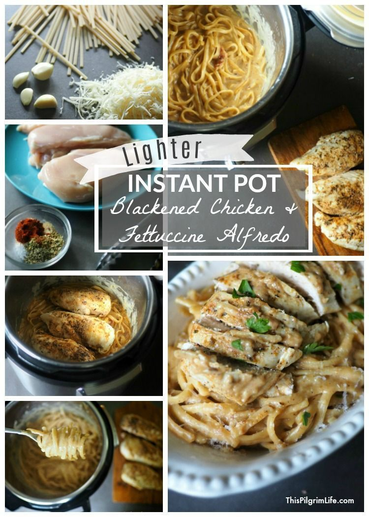 Lighter Instant Pot Blackened Chicken & Fettuccine Alfredo #blackenedchicken Juicy blackened chicken breasts, silky fettuccine noodles, and a perfect creamy Alfredo sauce-- all made in the Instant Pot! This lighter Instant Pot fettuccine Alfredo takes a favorite Italian dish and makes it easy and healthy enough for a weeknight meal! #blackenedchicken Lighter Instant Pot Blackened Chicken & Fettuccine Alfredo #blackenedchicken Juicy blackened chicken breasts, silky fettuccine noodles, and a perfe #blackenedchicken
