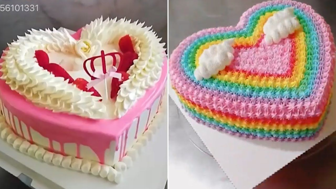 Top 15 Easy Heart Shaped Cakes Decorating Ideas Satisfying Cake