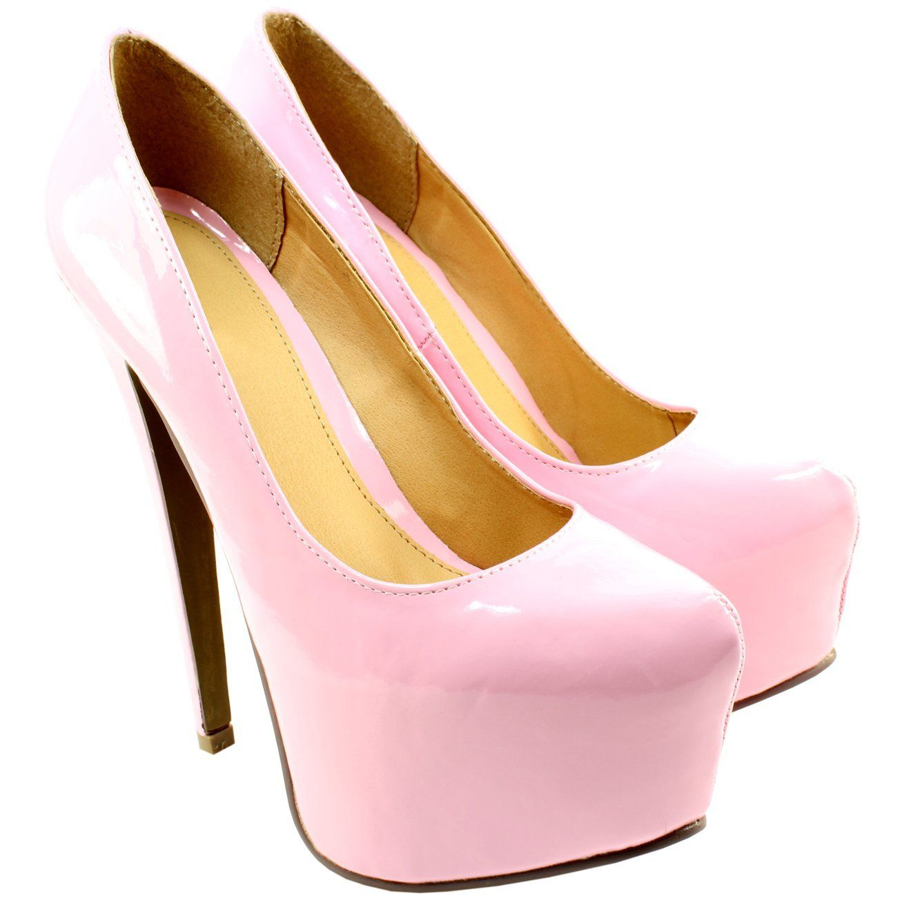 Womens Pastel Stiletto High Platform Heel Shoes