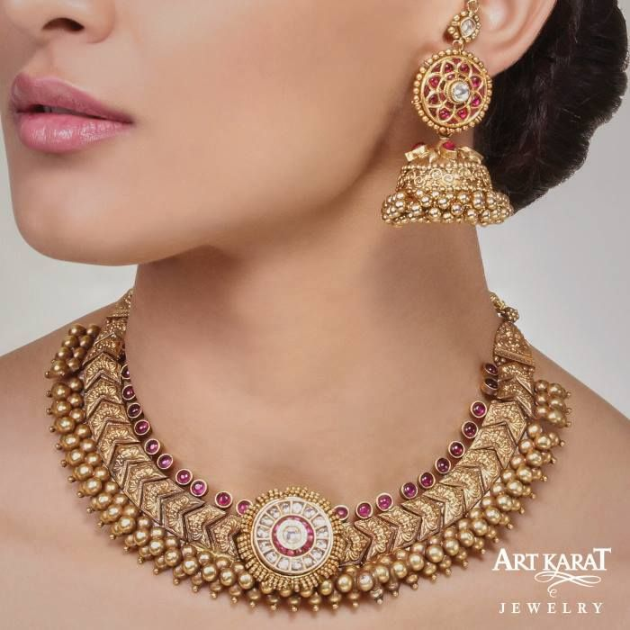 the sinhaldeep necklace by art karat jewelry artkarat padmavati