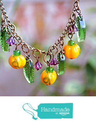 Thanksgiving Pumpkin necklace Fall necklace Lampwork Autumn necklace bead jewelry Halloween jewelry Harvest Jewelry Vegetable Women gift Halloween necklace Harvest jewelry Glass jewelry from KatrinHandmadeGifts