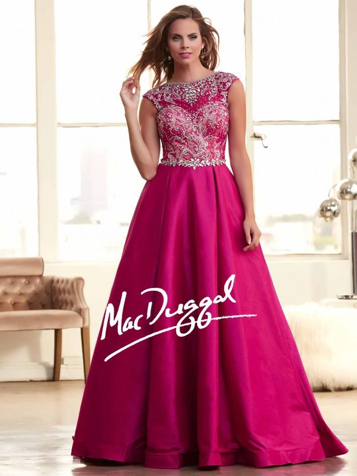 add pockets different color Fuchsia Ball Gown | Vintage Inspired ...