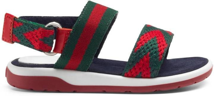 3cd37ec58 Gucci Toddler Chevron leather sandal | Products | Toddler sandals ...
