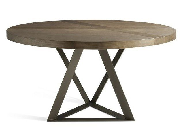 Table extensible à manger ronde TRACK | Table ronde by ROCHE ...