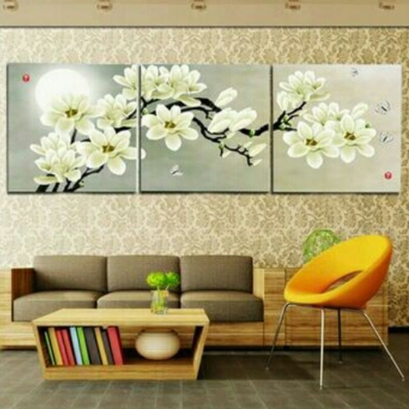 Magnolia Delight 3 Piece Wall Art Set on Canvas | Flower types, Wall ...