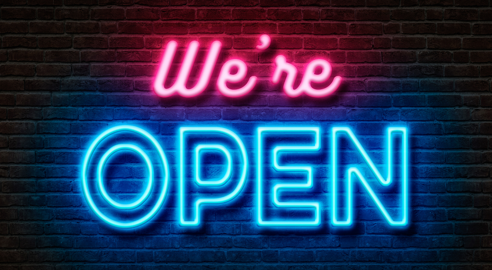 We Re Open For Business Contractor Cape Cod Ma Ri Neon Signs Neon Open Signs