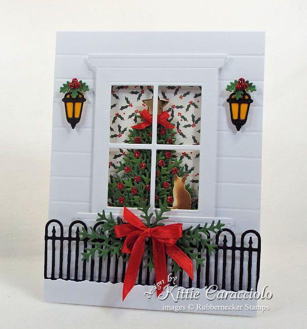 Christmas Tree Window Card | Kittie Kraft