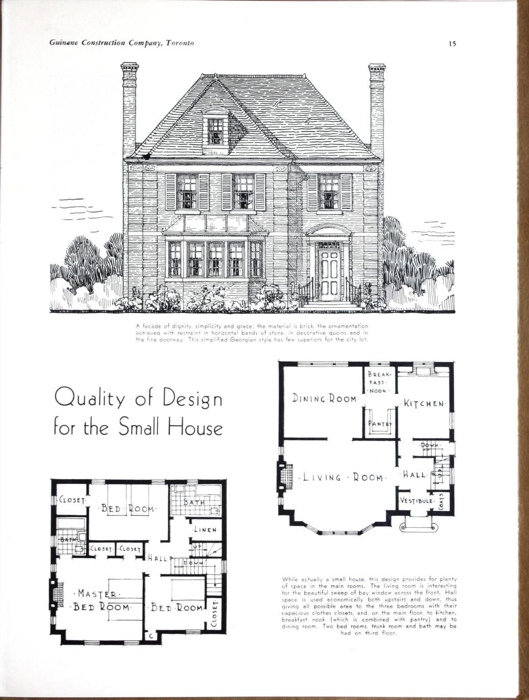 Planning Building Financing The Home By Guinane Construction Company Published 1932 In 2021 Vintage House Plans House Floor Plans House Plans