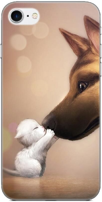 Funny Animal Kiss Back Skin Cover For Iphone X 4 4S 5 5S SE 5C 6 6S 7 8 Plus For IPod Touch 4 5 6 Hard Phone Case Capa Coque