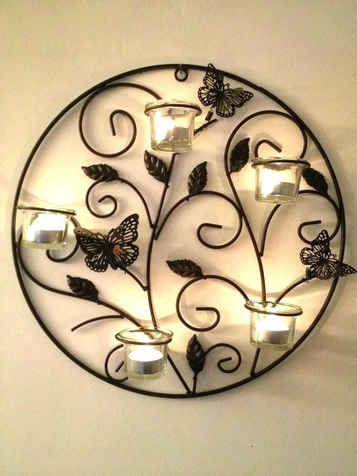 Pin By Vishal Garg On Metal Things In 2020 Wall Candle Holders Decorative Iron Wall Art Candle Wall Decor