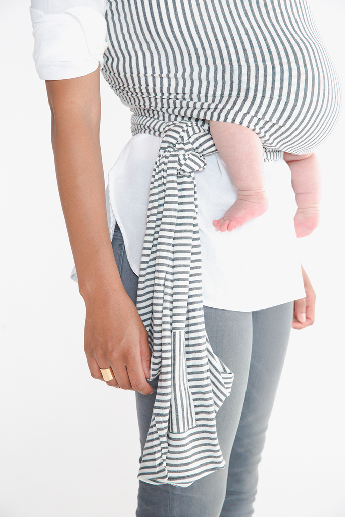 86f864d0787 Solly Baby Wrap - grey and white stripe