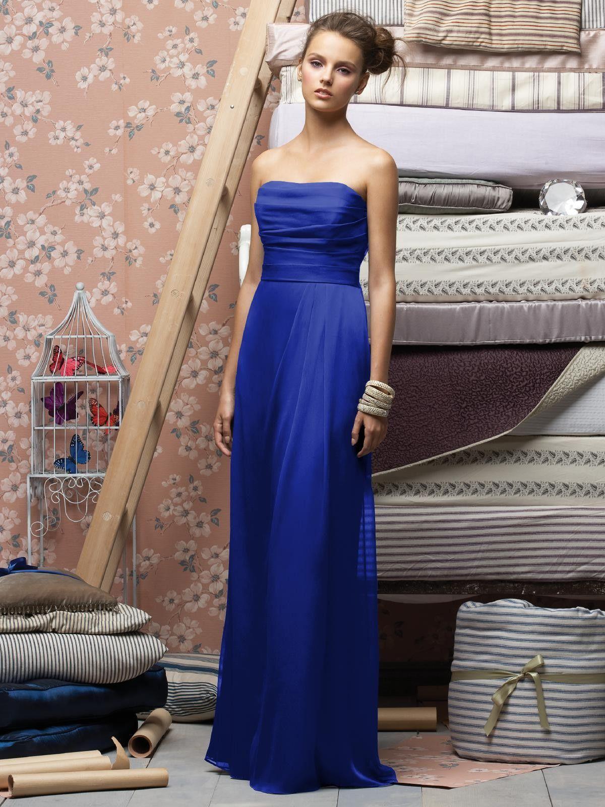 Blue grey wedding dress  Royal blue bridesmaid dress wow so striking They can be my