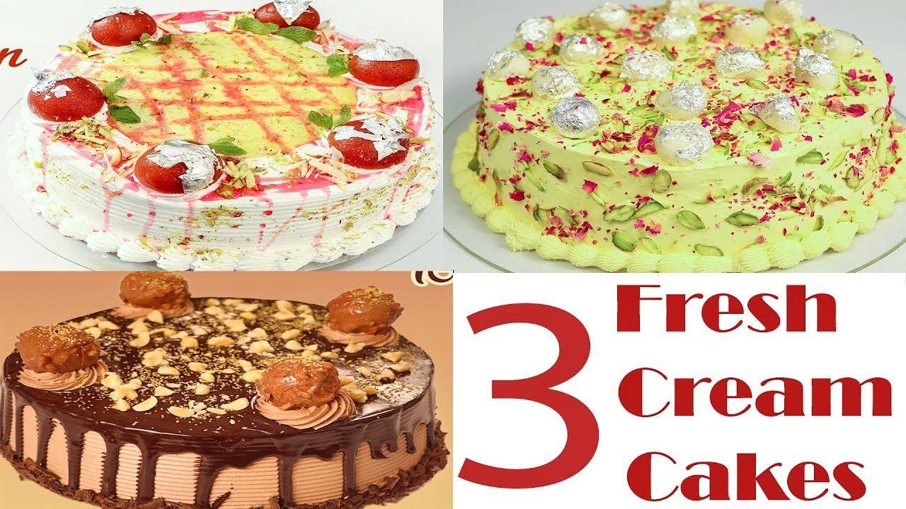 3 eggless fresh cream cakes recipe in hindi tips tricks