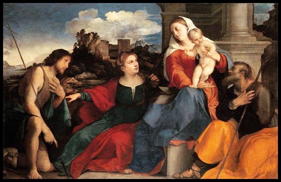 "Conversacìon sacra - Pintura de Jacobo Negretti ""Palma el Viejo"" - 1525"