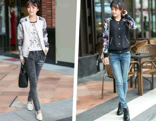 Cool.衣-QUEEN女装,韩版女装大码太空棉印花百搭休闲夹克外套