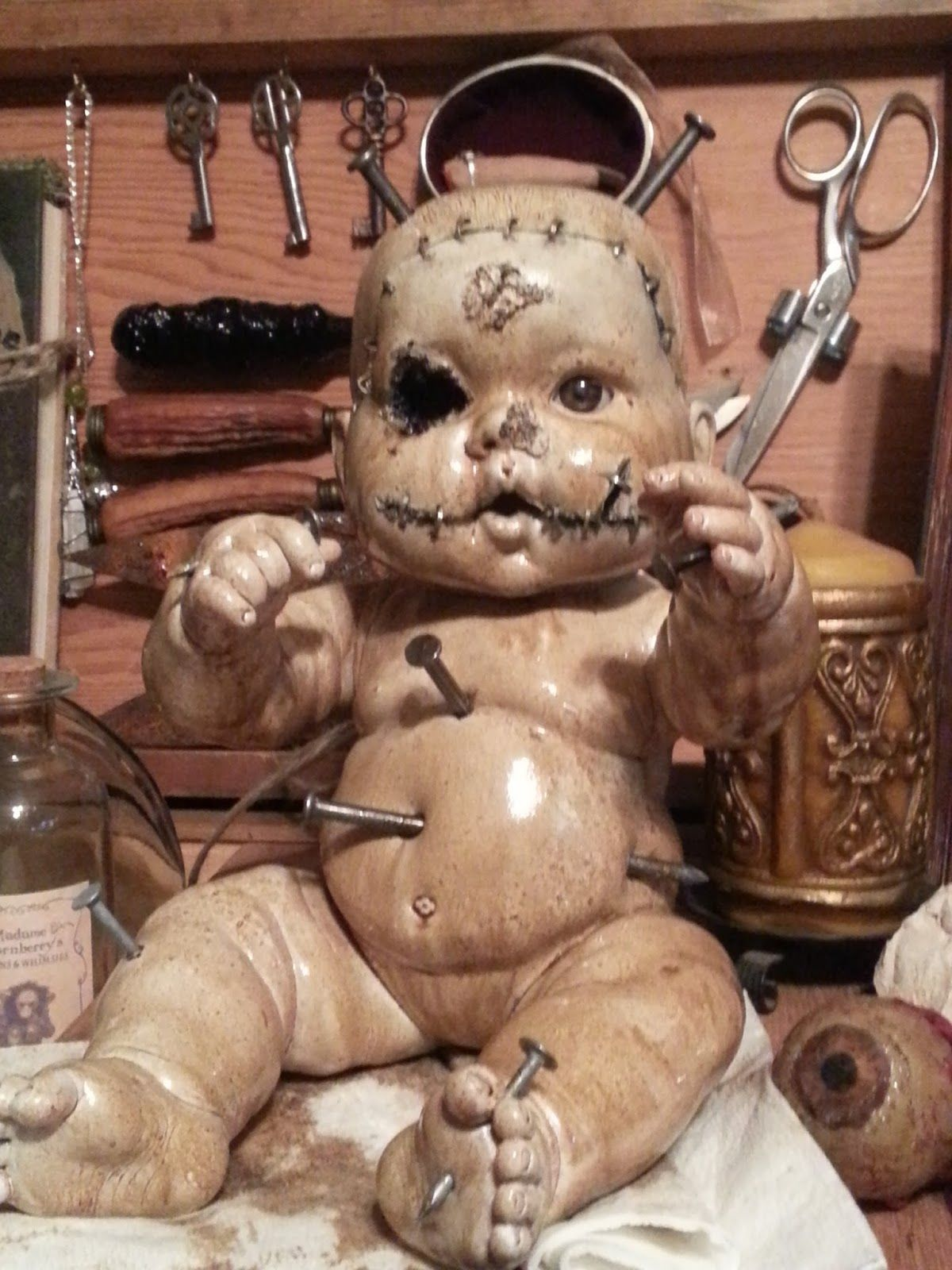 Thea's Krafty Kitchen Halloween. Creepy baby doll make