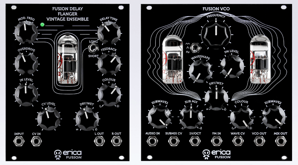 Erica Synths Intros Two New Vacuum Tube Eurorack Modules, The Fusion VCO & Fusion Delay/Flanger/Vintage Ensemble