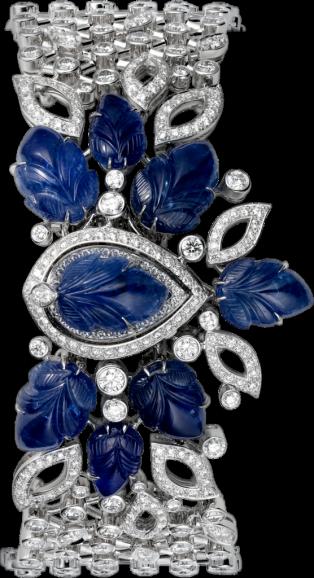 Cartier High Jewelry secret hour watch - Small model, rhodiumized 18K white gold, diamonds - Cartier