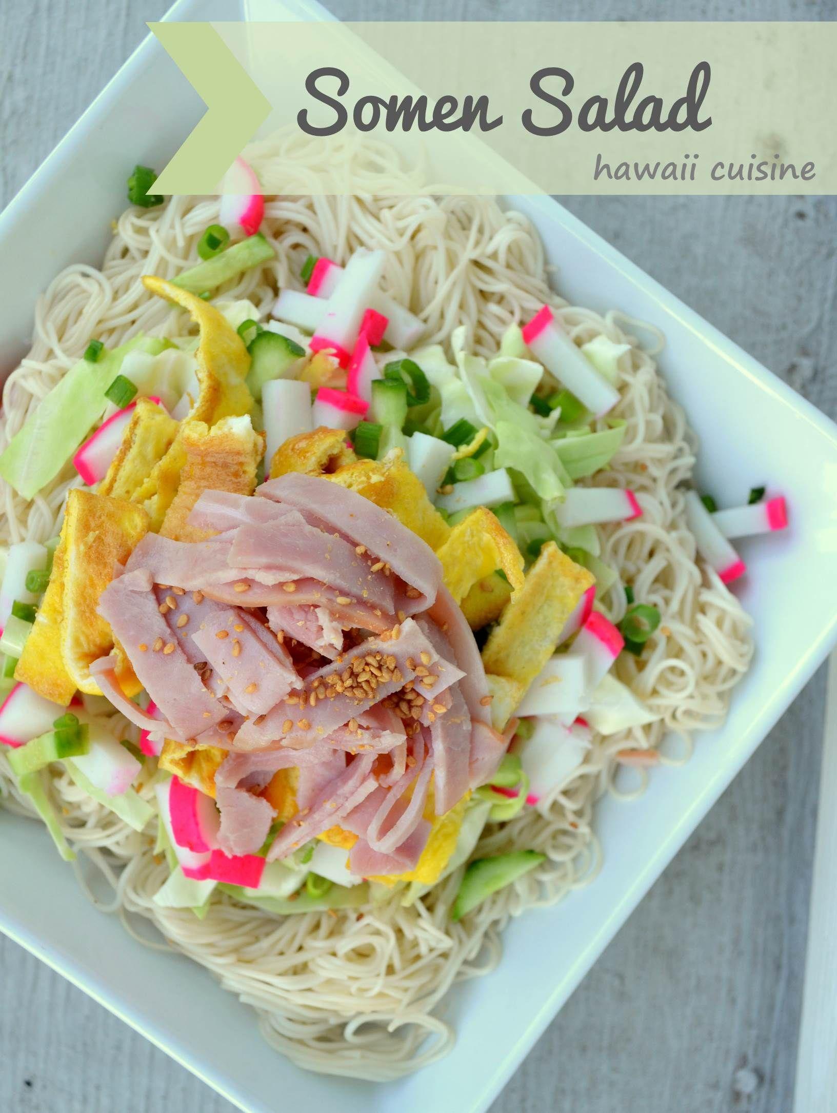 Hawaii Cuisine: Somen Salad   wedo.