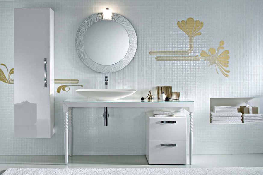 Mobile Da Bagno Glamour : Deko by idea l arredo bagno essenziale ed elegante come una diva