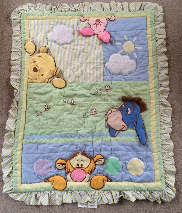 Disney BABY Winnie the Pooh Peek A Boo Baby Blanket Quilt With ... : disney baby quilts - Adamdwight.com