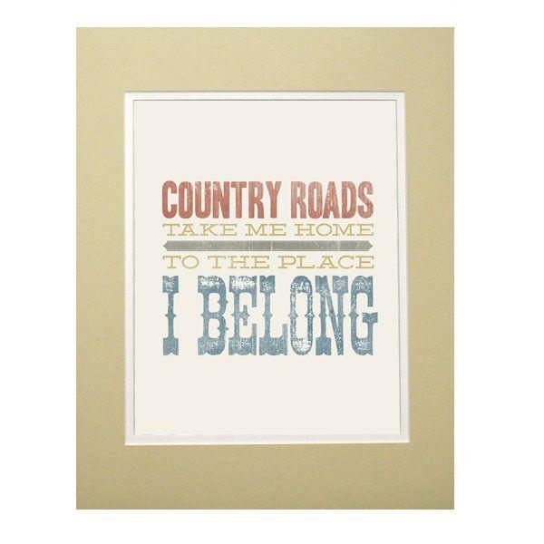 Country Road - Print | Maxwells Attic