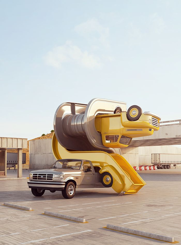Cars, sex and gravity: Chris Labrooy's new series of CGI pictures
