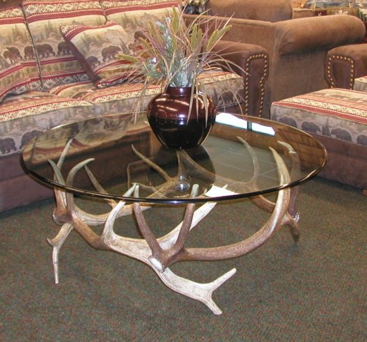 Antler Coffee Table Antique