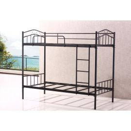 Best Brand New Sturdy Black Double 4Ft 6 Metal Bunk Bed Heavy 400 x 300