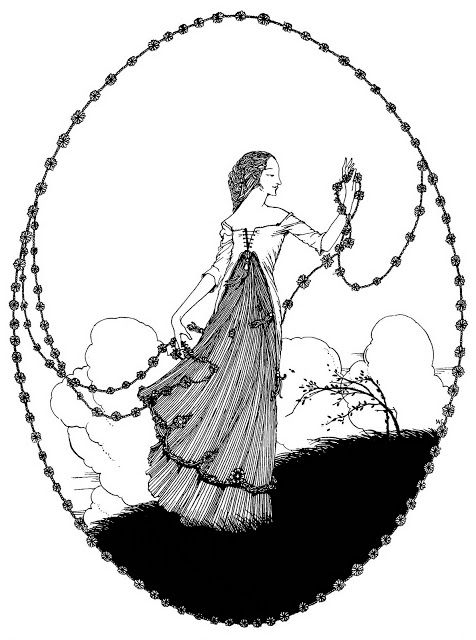 """TheYear's at the Spring ~ 1920 ~ Harry Clarke  """"April, April, laugh thy girlish laughter!"""""""