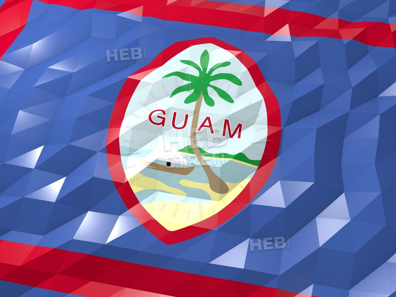 Flag Of Guam 3d Wallpaper Illustration Hebstreits Maps And Sketches 3d Wallpaper Wallpaper Illustration