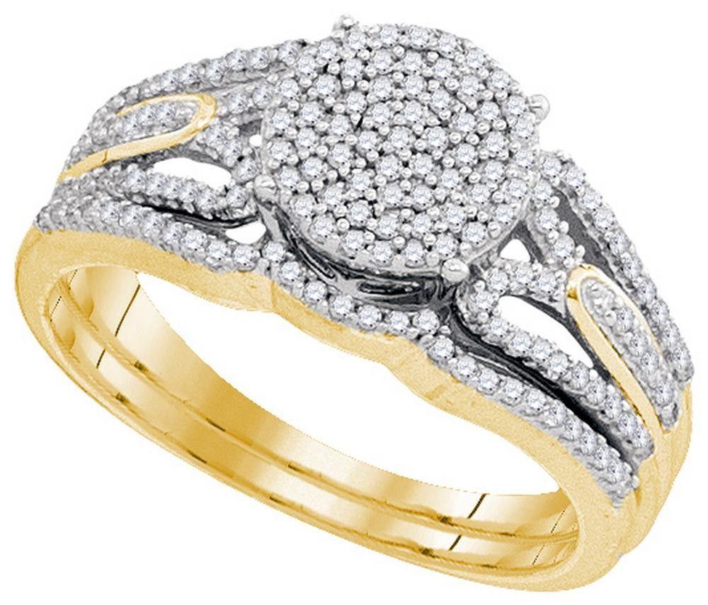 3-8CTW-Diamond MIRO-PAVE BRIDAL SET