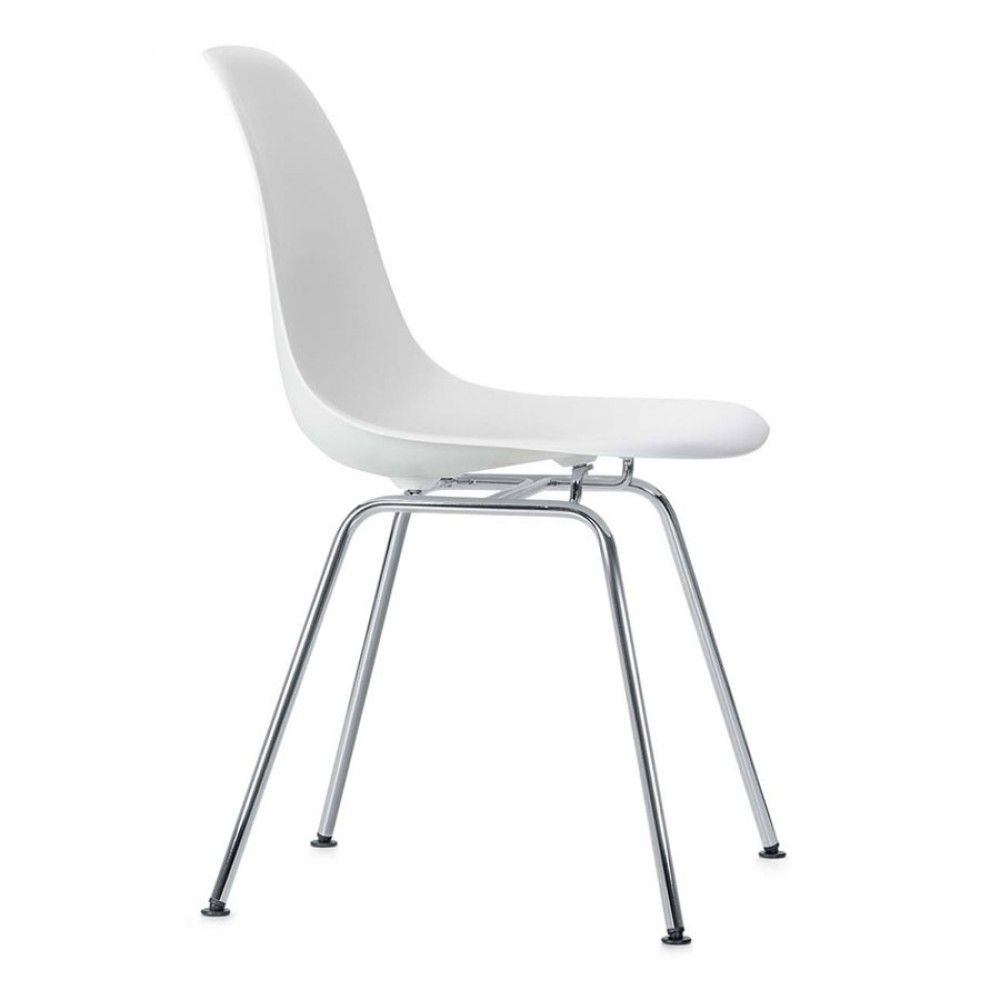 The Eames DSX Chair from Vitra features a standard four leg base ...