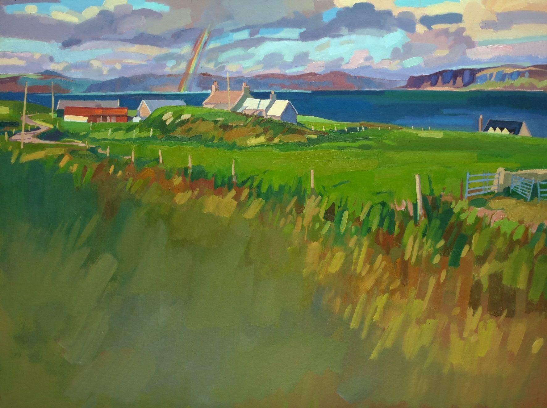 Lachlan Goudie ' April Showers, Iona' www.artfortwilliam.co.uk