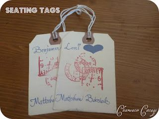 Clearwater Cottage: Wedding Travel Themed Seating Cards