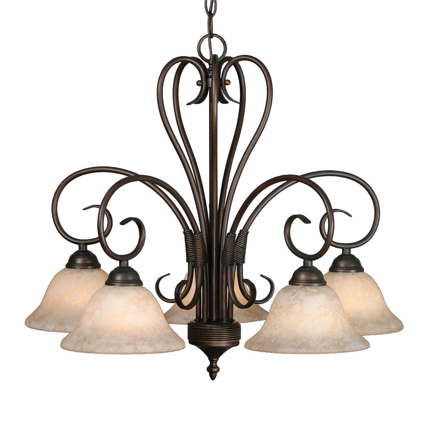 Golden Lighting 5 Light Homestead Downlight Chandelier Rubbed Bronze Golden Lighting Chandelier Shades Chandelier