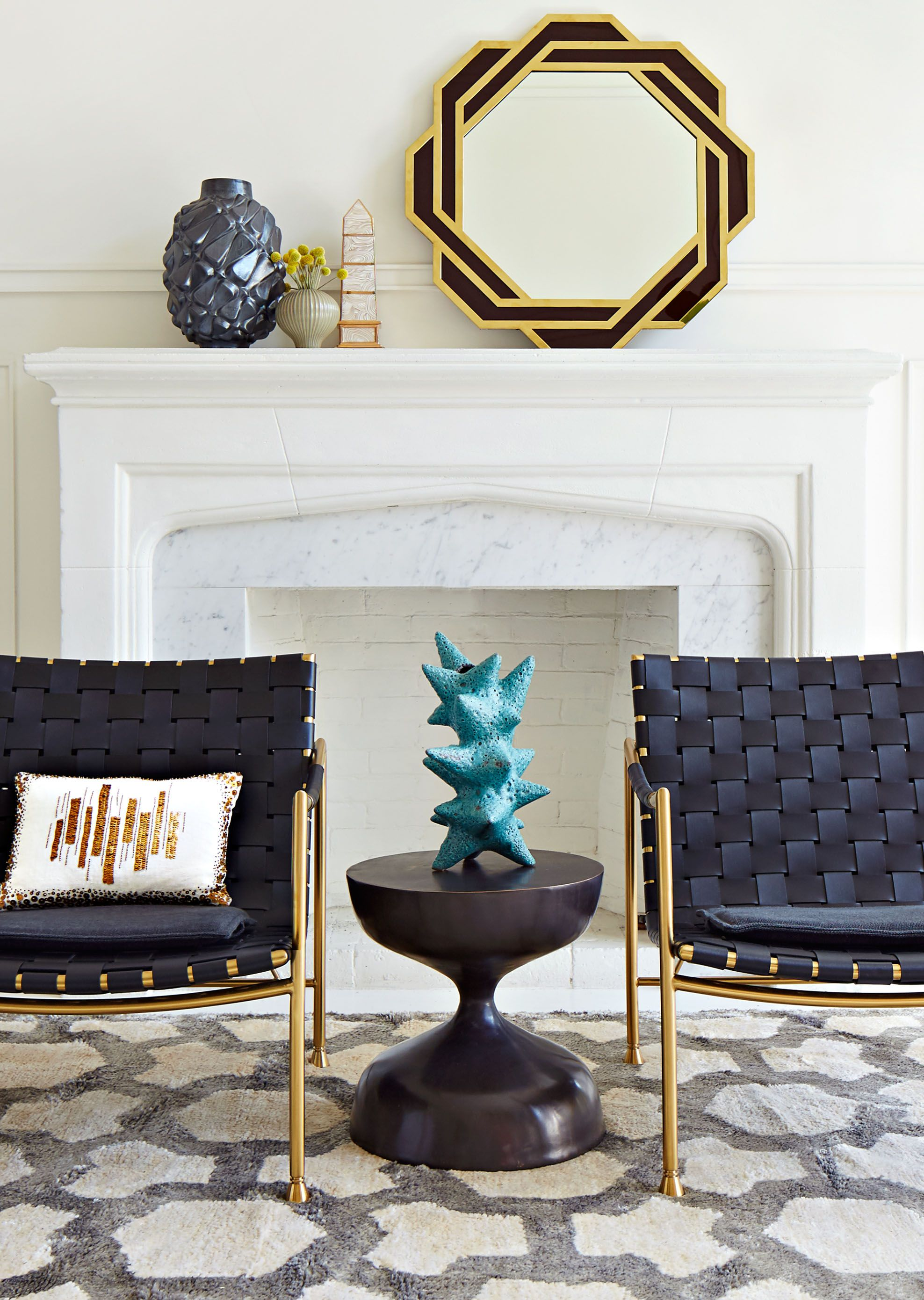 Jonathan Adler pottery gives an instant face lift to any living room ...