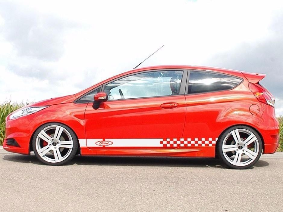 2x Decal Sticker Stripes Kit For Ford Fiesta Rs Body Lowered