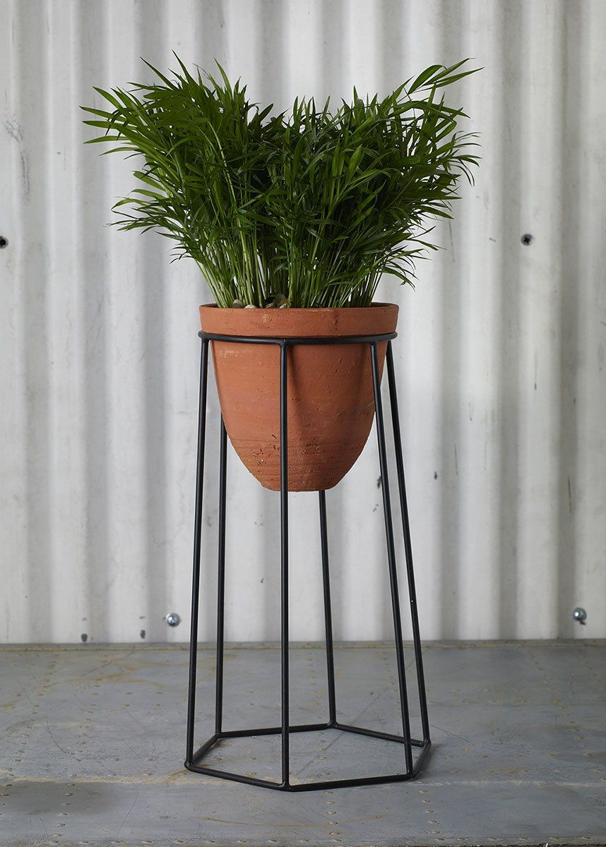 """Outdoor Terracotta Plant Stand 16.75"""" (With images"""