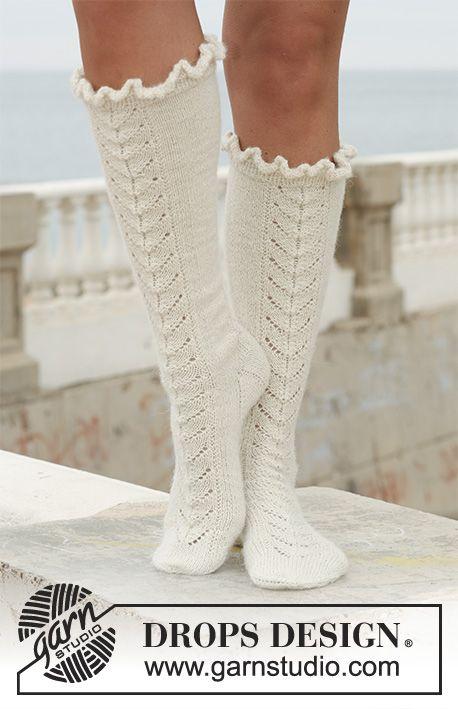 Royal Ballet / DROPS 112-7 - Lange DROPS sokken van Alpaca met ...