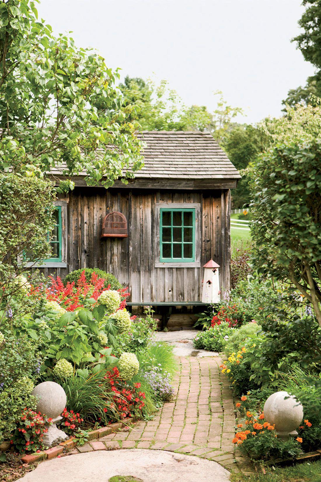 14 Ways to Perk Up Your Garden Shed   Birdhouse, Gardens and Garden ...