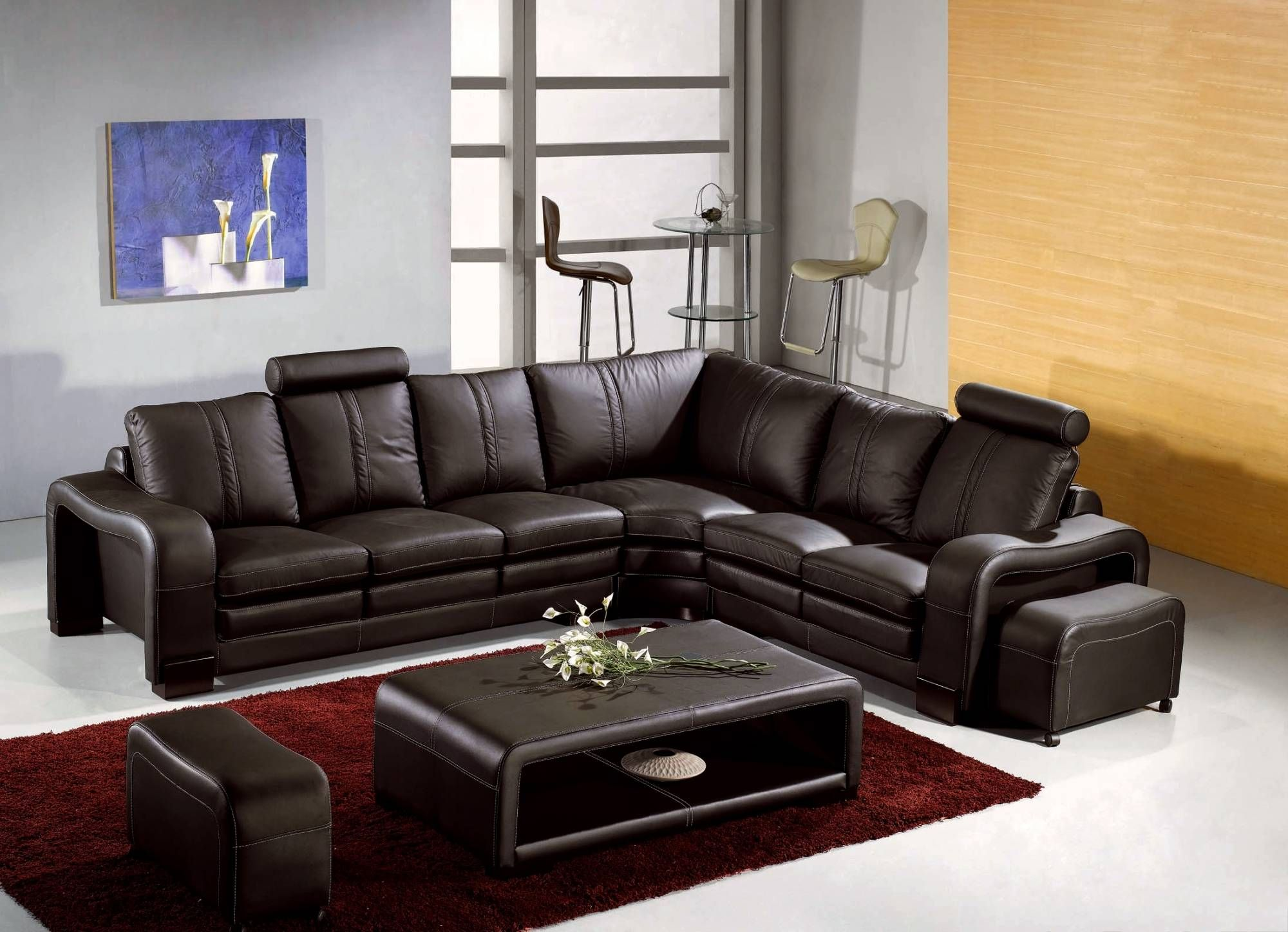 Canape Angle En Cuir Deco In Paris Canape D Angle En Cuir Marron Avec Appuie C In 2020 Modern Sofa Sectional Modern Leather Sectional Sofas Sectional Sofas Living Room