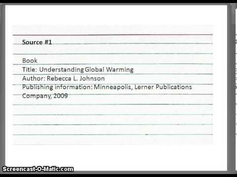 How To Write A Note Card For A Research Paper Research Paper Academic Writing Writing