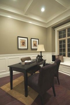 Wainscoting In An Office Very Cool Ceiling Mouldings Add