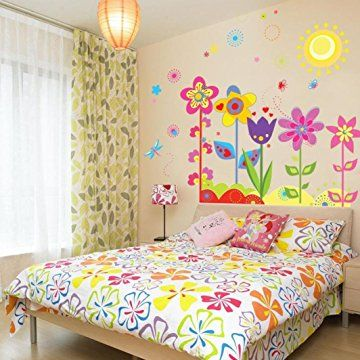 Ussore Wall Sticker Flower Butterfly Removable Vinyl Decal Art For ...