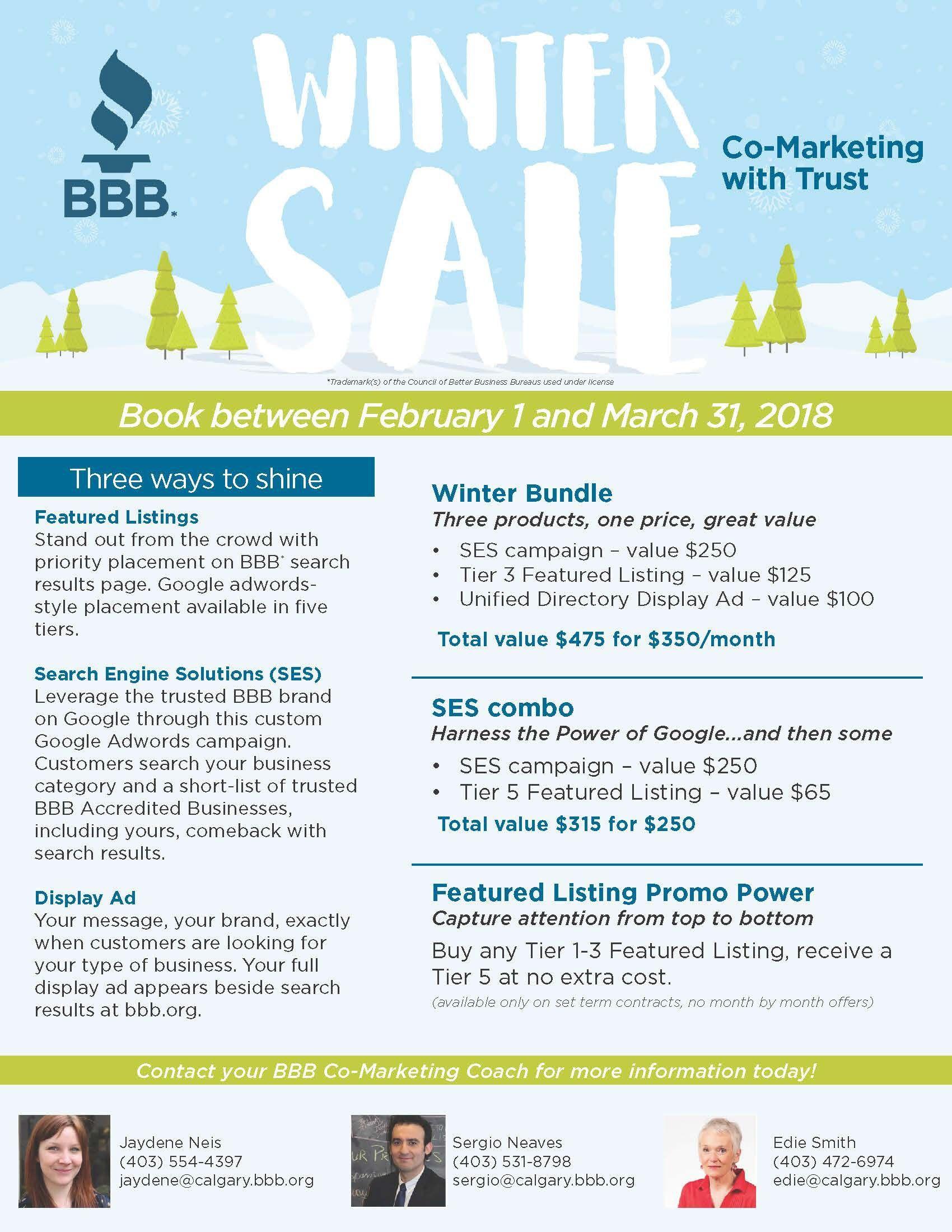 Now\'s Your Chance - The Better Business Bureau\'s Winter Sale 2018 Is ...